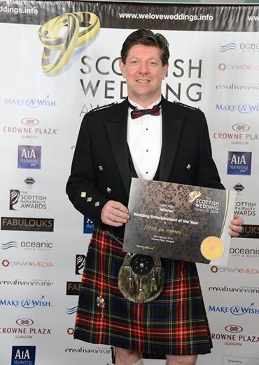 Scottish Wedding Awards Regional Winner